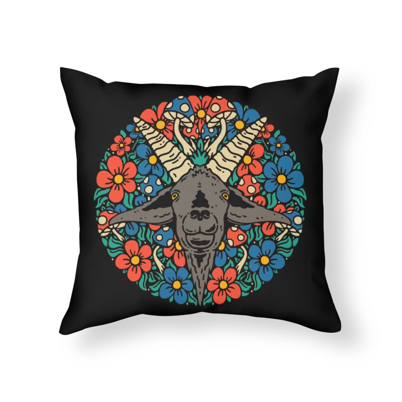 Pentagoat Home Throw Pillow by dustinwyattdesign's Shop