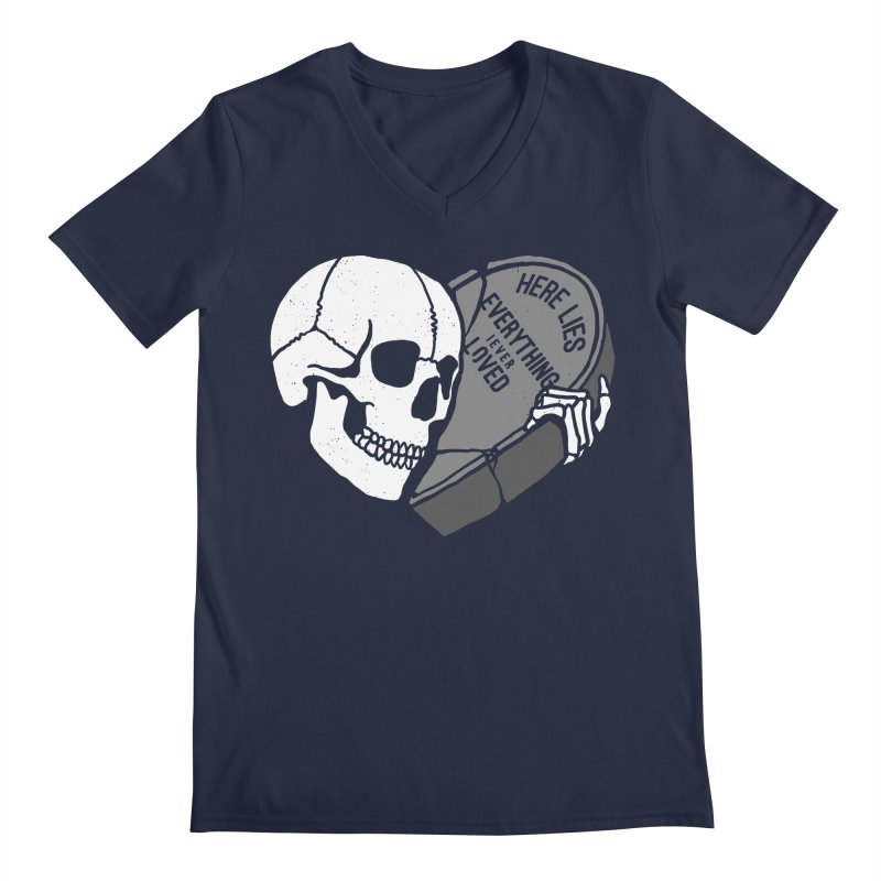 Here Lies Men's V-Neck by dustinwyattdesign's Shop
