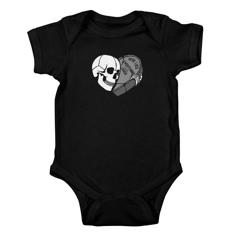 Here Lies Kids Baby Bodysuit by dustinwyattdesign's Shop