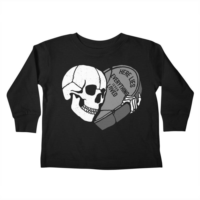 Here Lies Kids Toddler Longsleeve T-Shirt by dustinwyattdesign's Shop