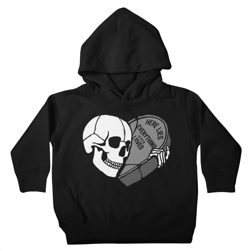 Here Lies Kids Toddler Pullover Hoody by dustinwyattdesign's Shop