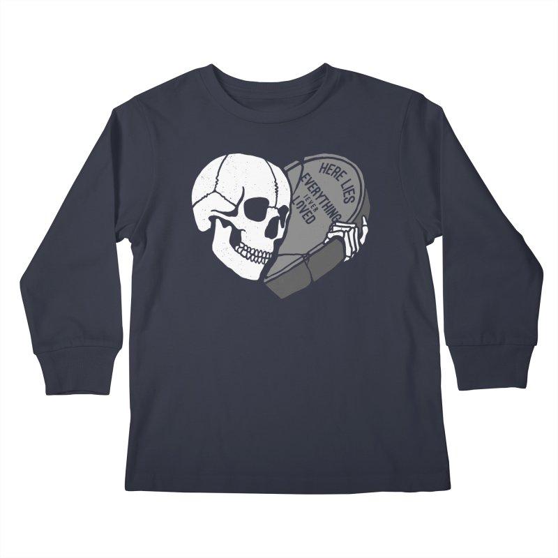 Here Lies Kids Longsleeve T-Shirt by dustinwyattdesign's Shop