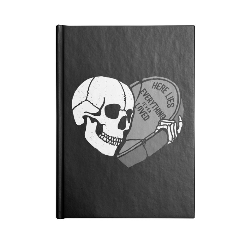 Here Lies Accessories Notebook by dustinwyattdesign's Shop