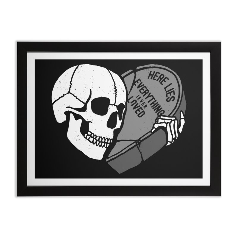 Here Lies Home Framed Fine Art Print by dustinwyattdesign's Shop