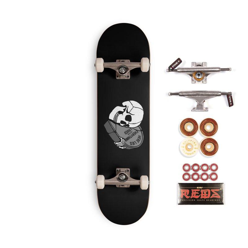 Here Lies Accessories Skateboard by dustinwyattdesign's Shop