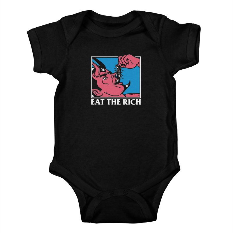 Eat The Rich Kids Baby Bodysuit by dustinwyattdesign's Shop