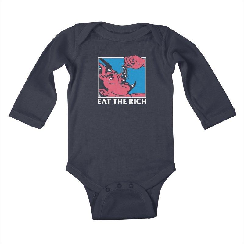 Eat The Rich Kids Baby Longsleeve Bodysuit by dustinwyattdesign's Shop