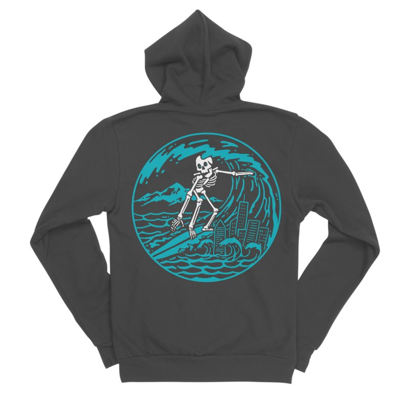 Surf City Women's Zip-Up Hoody by dustinwyattdesign's Shop