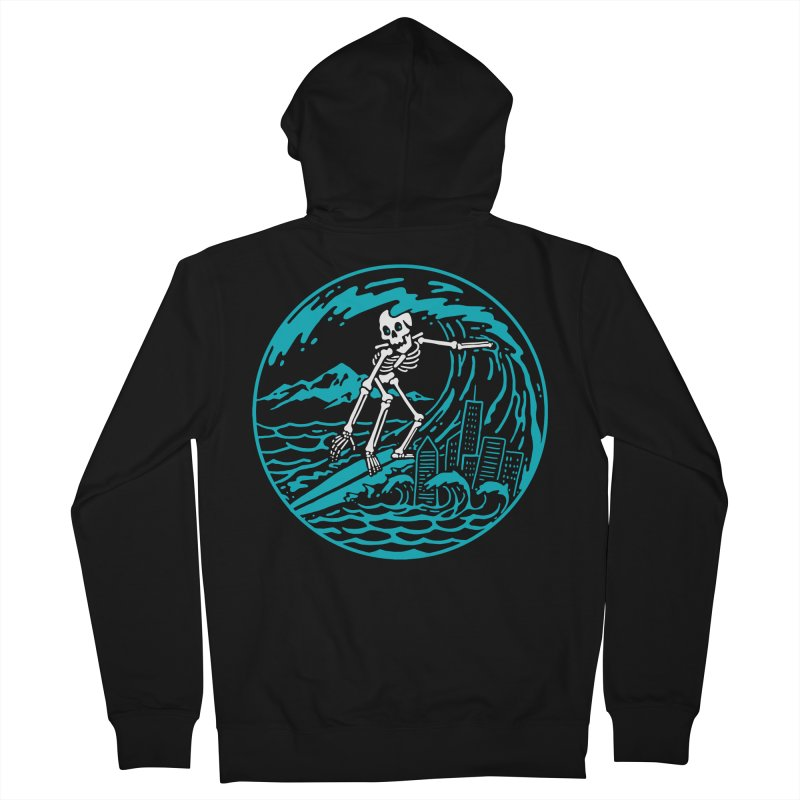 Surf City Men's Zip-Up Hoody by dustinwyattdesign's Shop