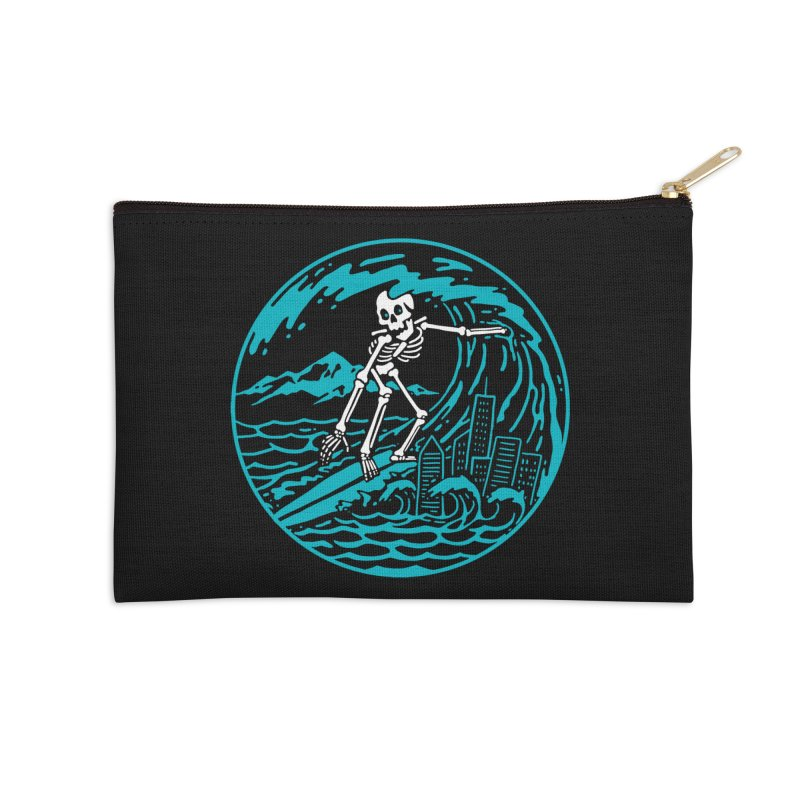 Surf City Accessories Zip Pouch by dustinwyattdesign's Shop
