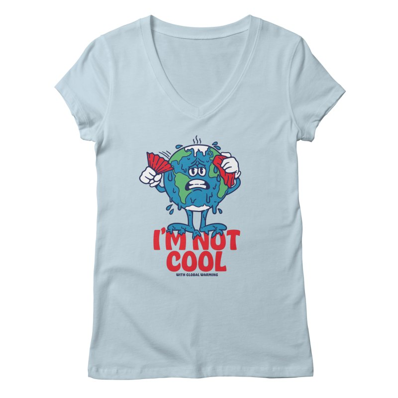 I'm Not Cool Women's V-Neck by dustinwyattdesign's Shop