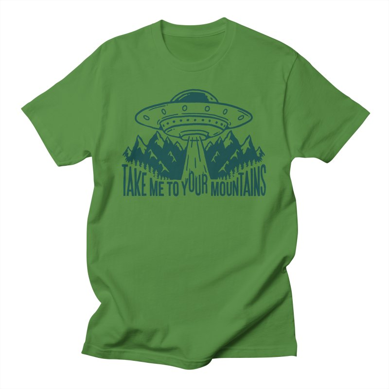 Take Me To Your Mountains Men's T-Shirt by dustinwyattdesign's Shop