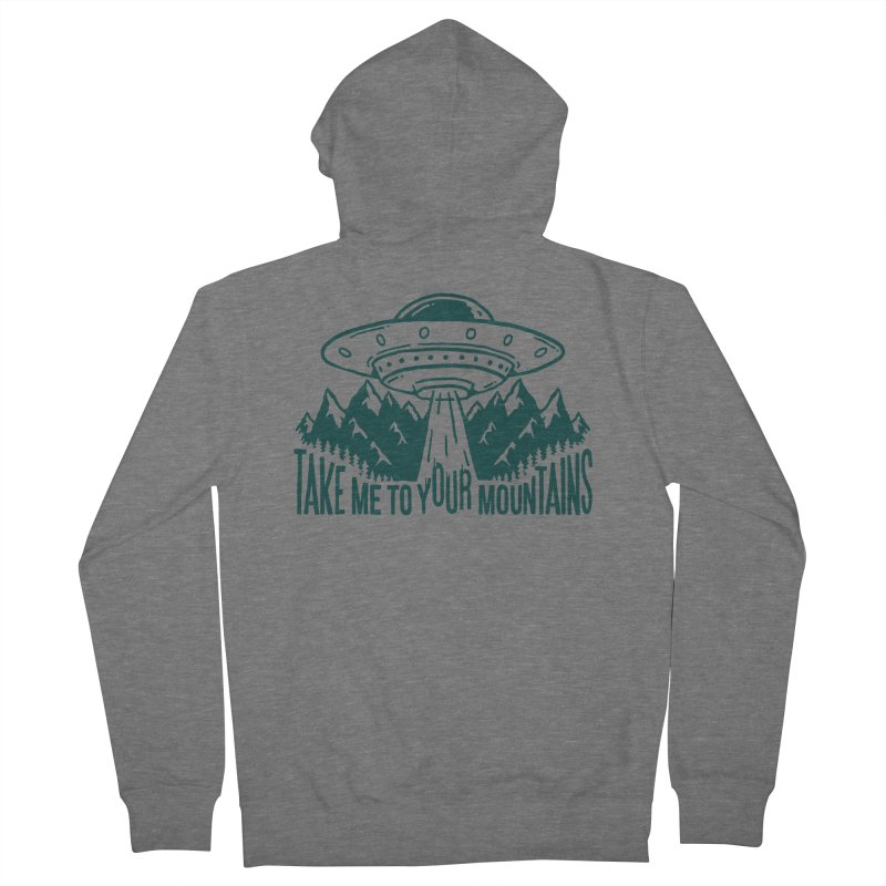 Take Me To Your Mountains Men's Zip-Up Hoody by dustinwyattdesign's Shop