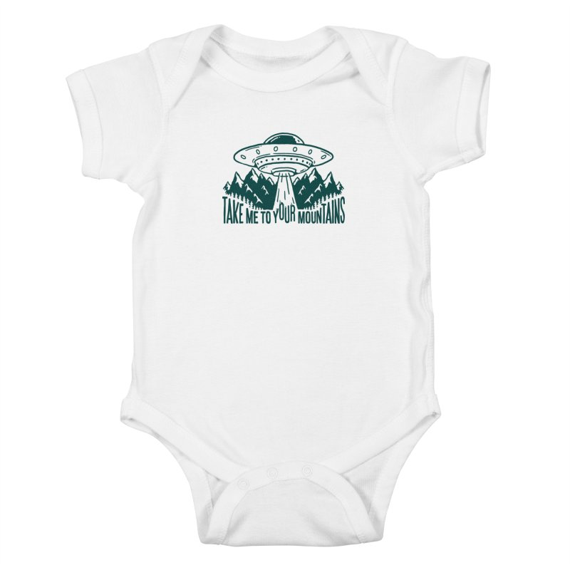 Take Me To Your Mountains Kids Baby Bodysuit by dustinwyattdesign's Shop