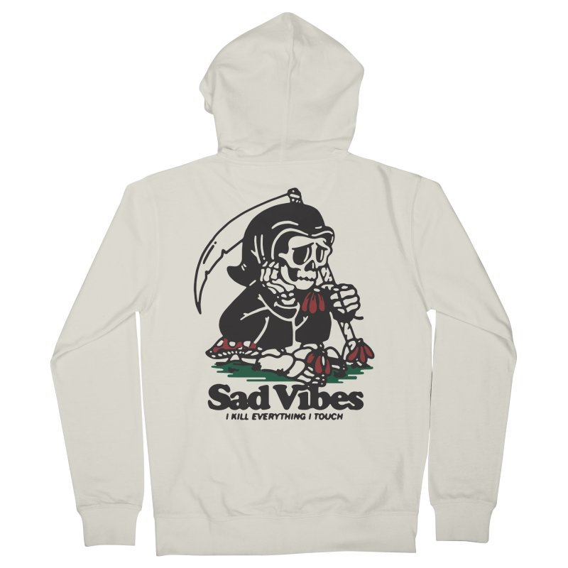 Sad Vibes Men's Zip-Up Hoody by dustinwyattdesign's Shop