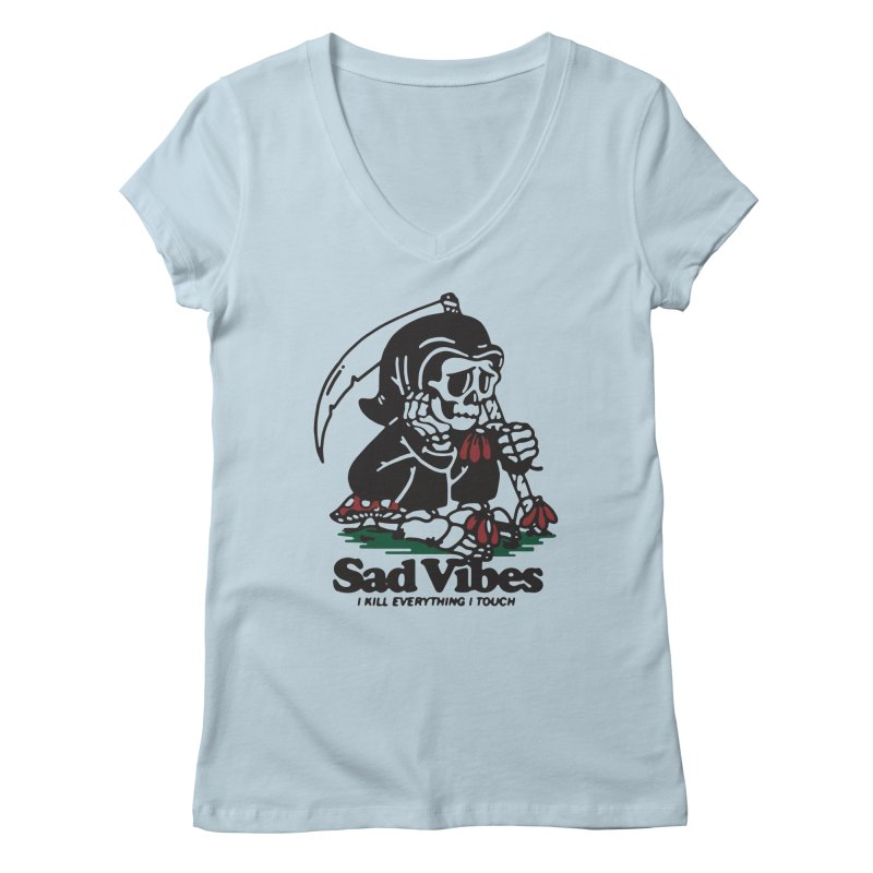 Sad Vibes Women's V-Neck by dustinwyattdesign's Shop