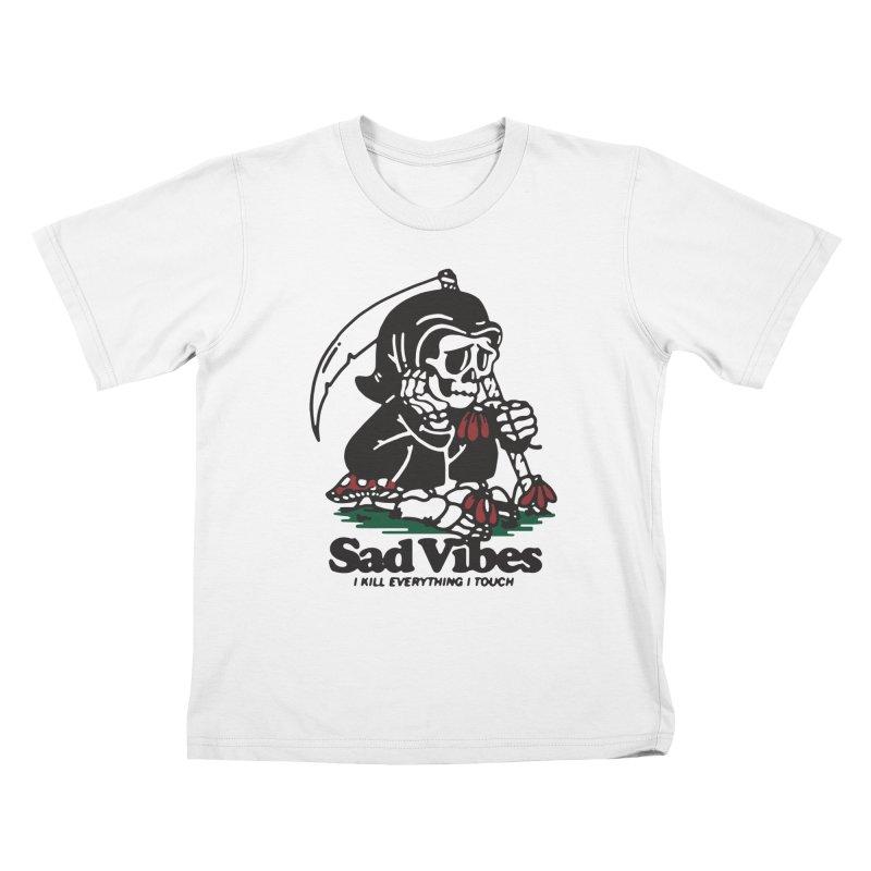 Sad Vibes Kids T-Shirt by dustinwyattdesign's Shop