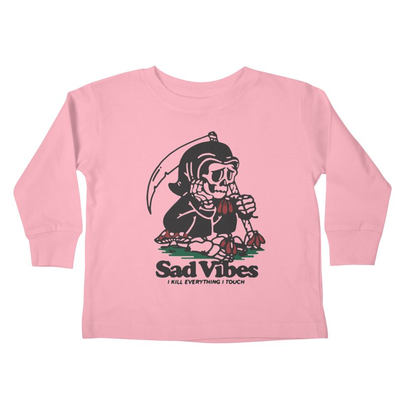 Sad Vibes Kids Toddler Longsleeve T-Shirt by dustinwyattdesign's Shop