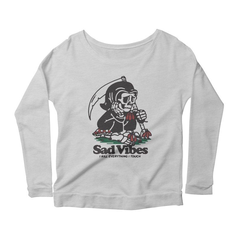 Sad Vibes Women's Longsleeve T-Shirt by dustinwyattdesign's Shop