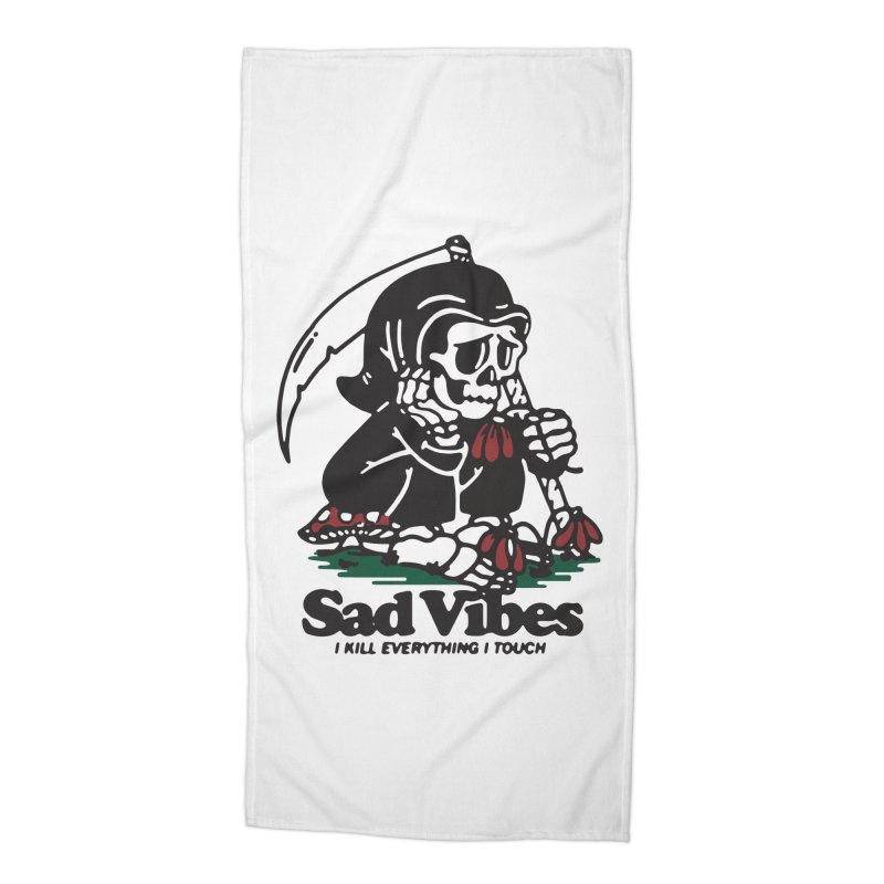 Sad Vibes Accessories Beach Towel by dustinwyattdesign's Shop
