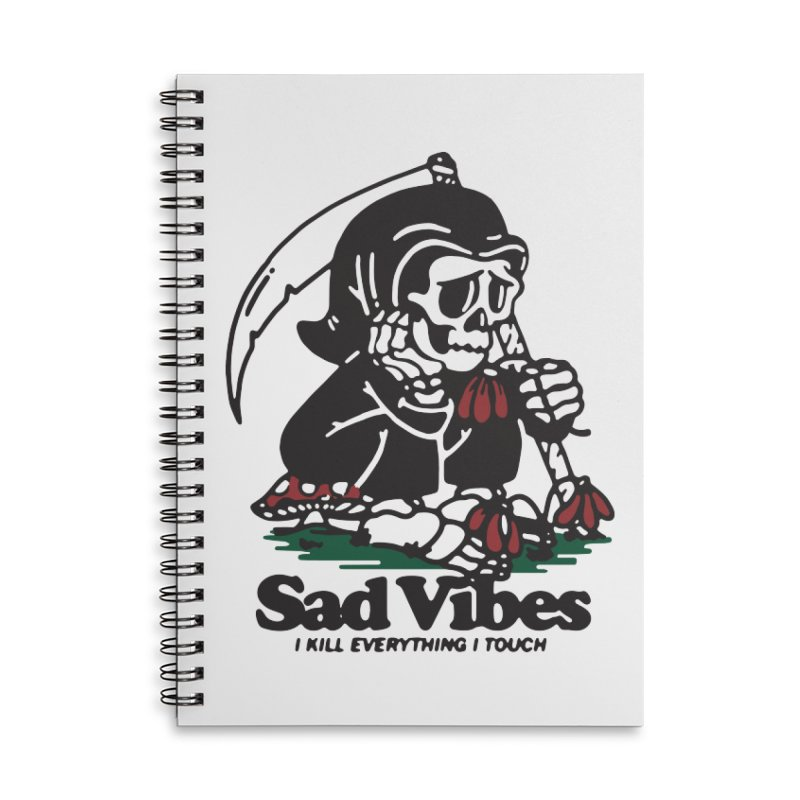 Sad Vibes Accessories Notebook by dustinwyattdesign's Shop