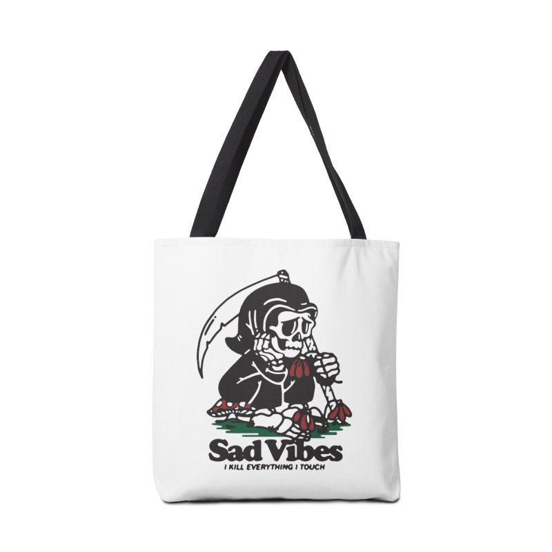 Sad Vibes Accessories Bag by dustinwyattdesign's Shop