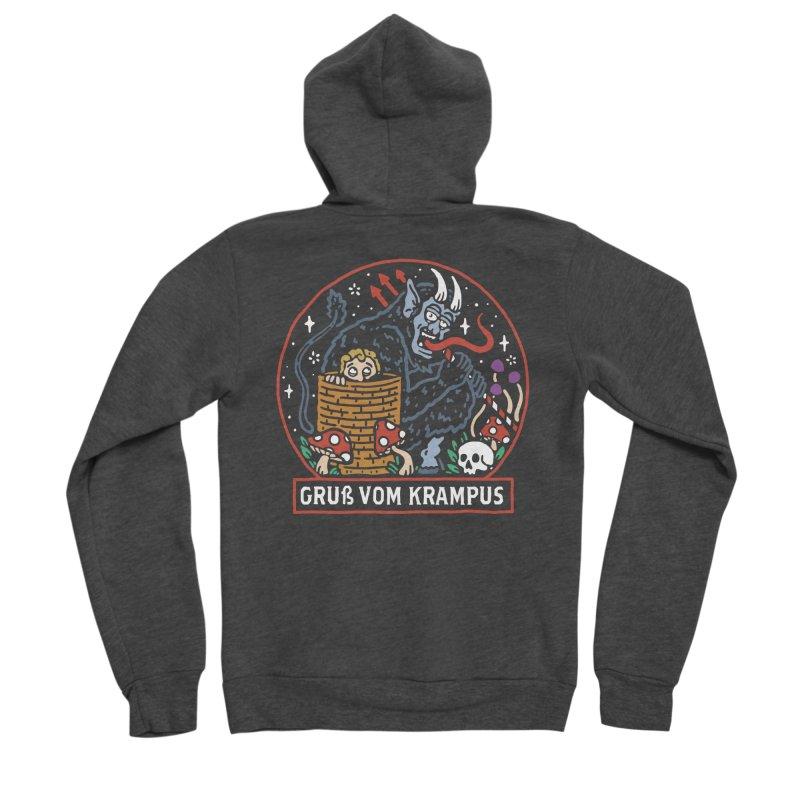 Gruß vom Krampus Men's Zip-Up Hoody by dustinwyattdesign's Shop