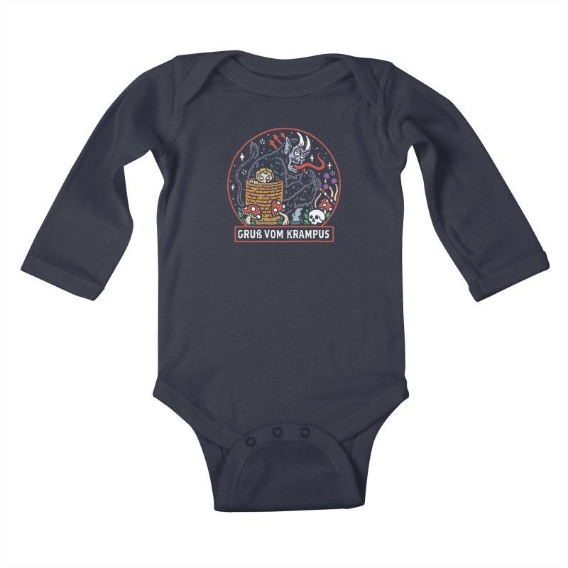 Gruß vom Krampus Kids Baby Longsleeve Bodysuit by dustinwyattdesign's Shop