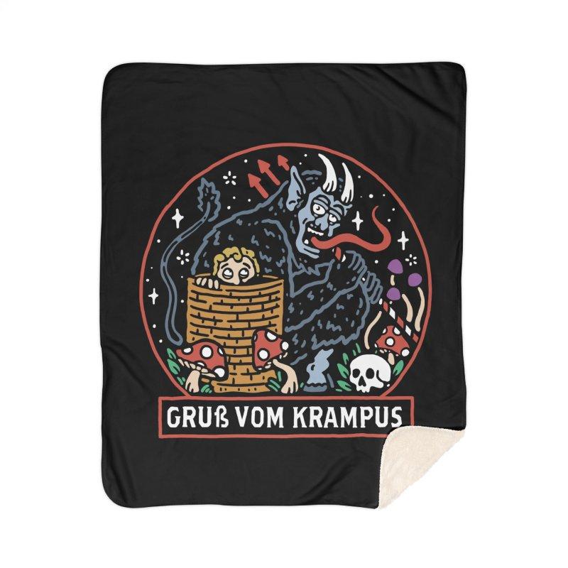 Gruß vom Krampus Home Blanket by dustinwyattdesign's Shop