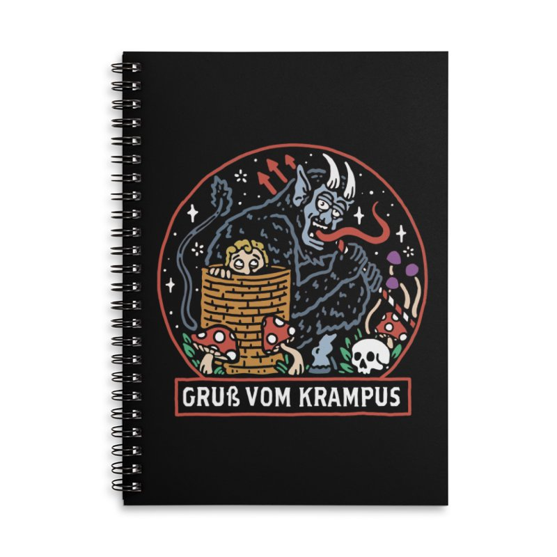 Gruß vom Krampus Accessories Notebook by dustinwyattdesign's Shop