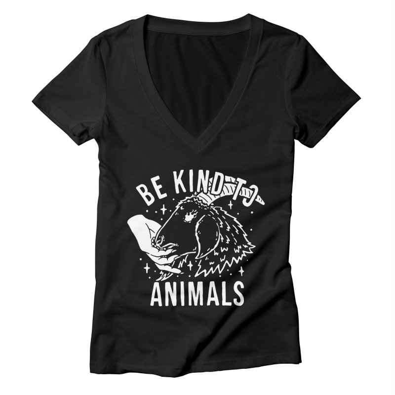 Be Kind to Animals Women's V-Neck by dustinwyattdesign's Shop