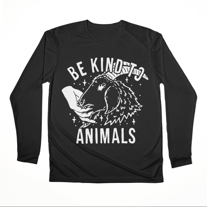Be Kind to Animals Men's Longsleeve T-Shirt by dustinwyattdesign's Shop