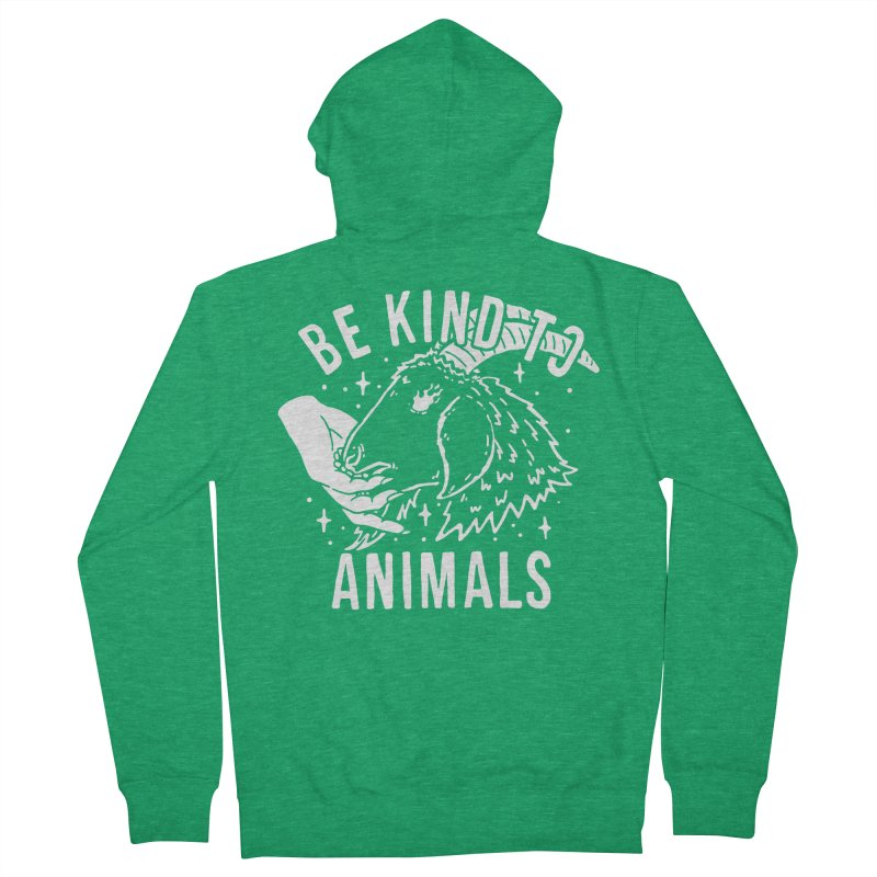 Be Kind to Animals Men's Zip-Up Hoody by dustinwyattdesign's Shop