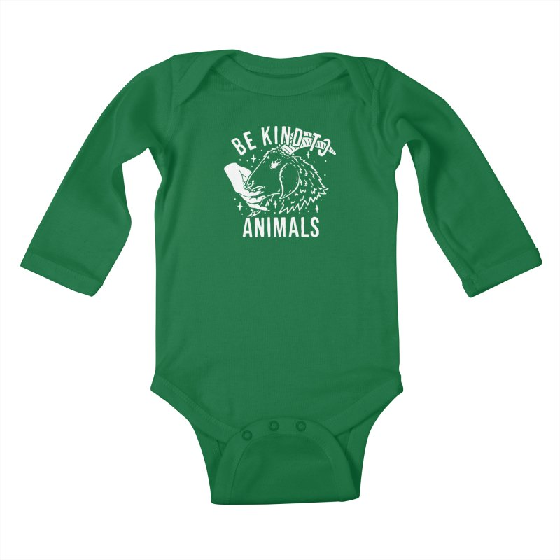 Be Kind to Animals Kids Baby Longsleeve Bodysuit by dustinwyattdesign's Shop