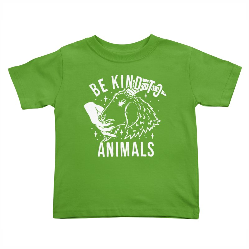 Be Kind to Animals Kids Toddler T-Shirt by dustinwyattdesign's Shop
