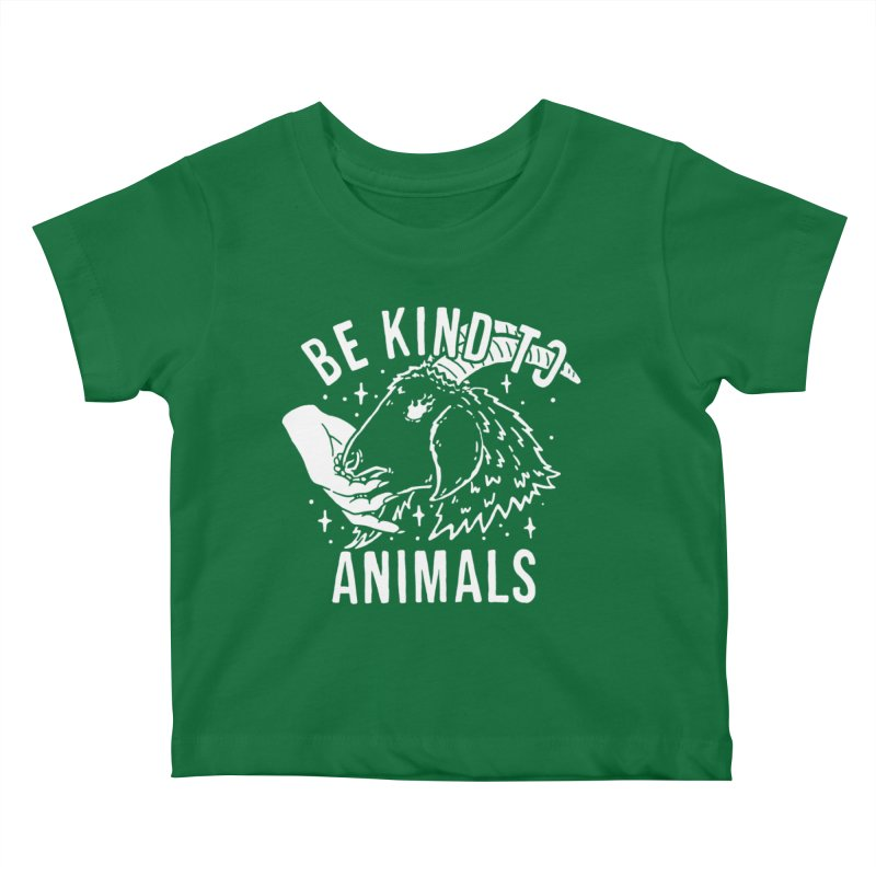 Be Kind to Animals Kids Baby T-Shirt by dustinwyattdesign's Shop