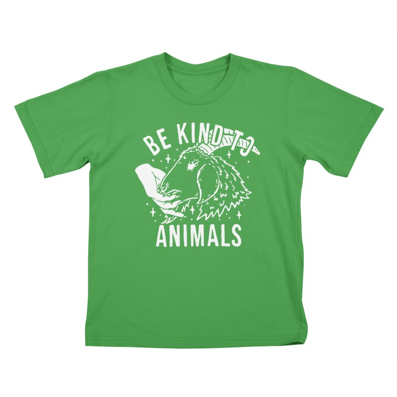Be Kind to Animals Kids T-Shirt by dustinwyattdesign's Shop