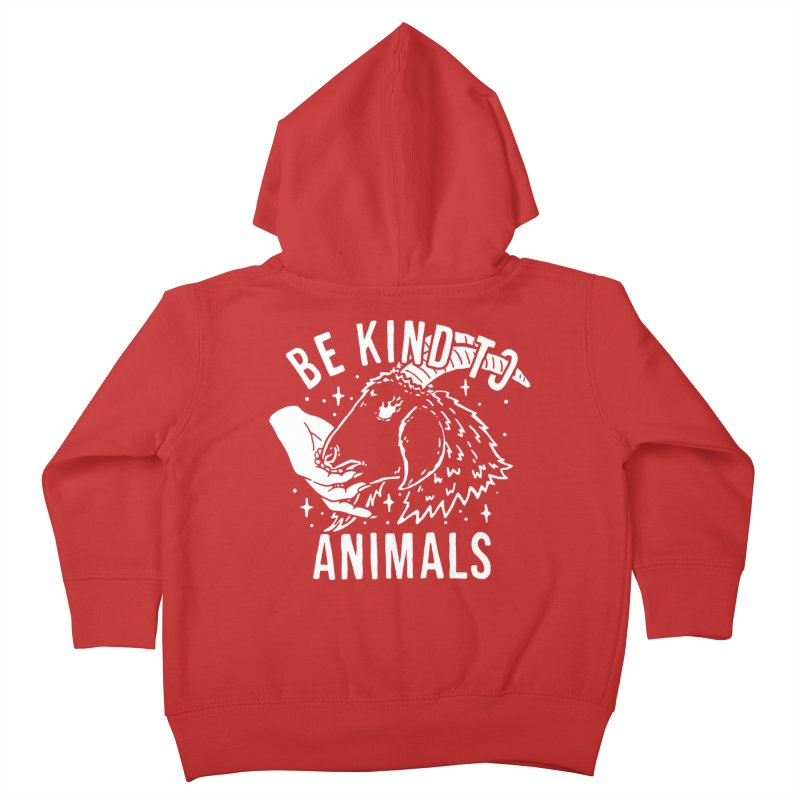Be Kind to Animals Kids Toddler Zip-Up Hoody by dustinwyattdesign's Shop