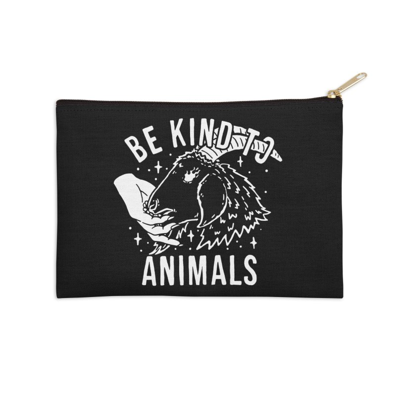 Be Kind to Animals Accessories Zip Pouch by dustinwyattdesign's Shop