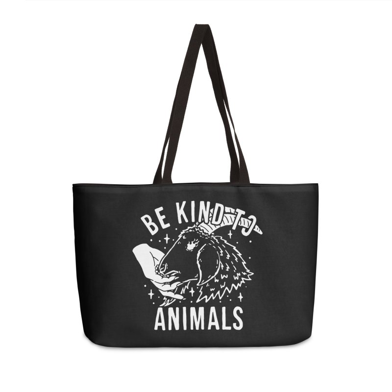 Be Kind to Animals Accessories Bag by dustinwyattdesign's Shop