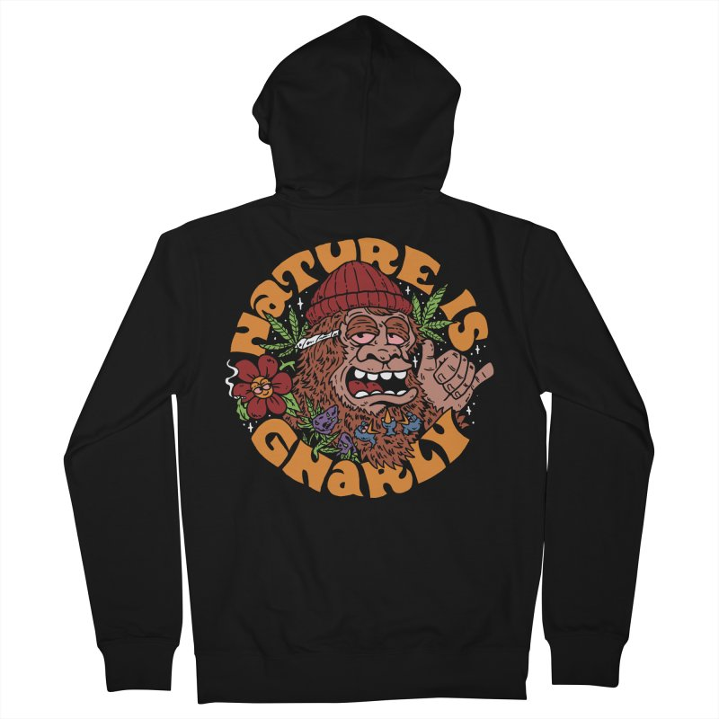 Nature is Gnarly Men's Zip-Up Hoody by dustinwyattdesign's Shop