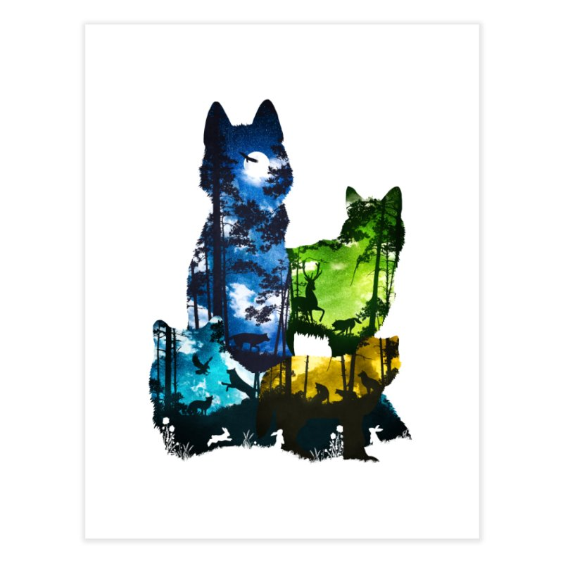 Wolf Pack Home Bath Mat by DVerissimo's