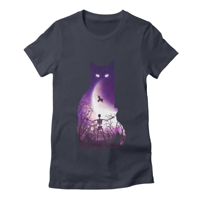 Fright Night Women's Fitted T-Shirt by DVerissimo's