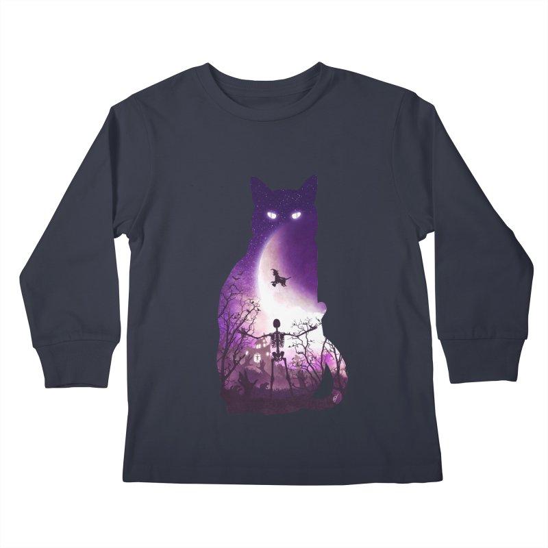Fright Night Kids Longsleeve T-Shirt by DVerissimo's