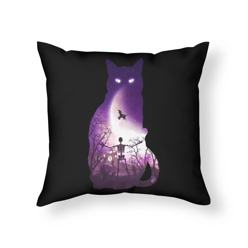 Fright Night Home Throw Pillow by DVerissimo's