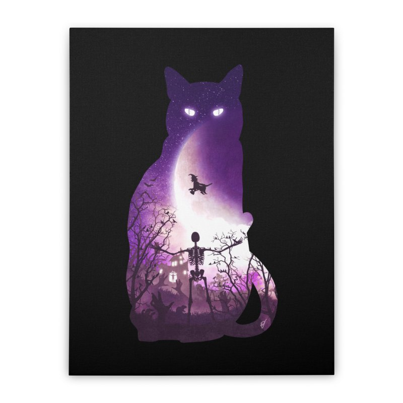 Fright Night Home Stretched Canvas by DVerissimo's