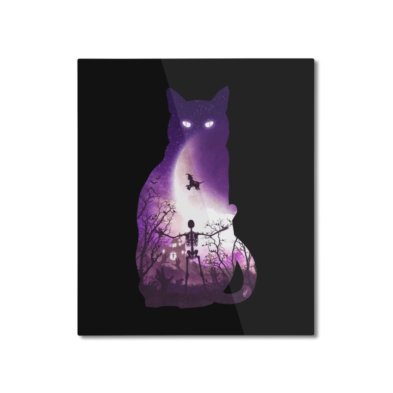 Fright Night Home Mounted Aluminum Print by DVerissimo's