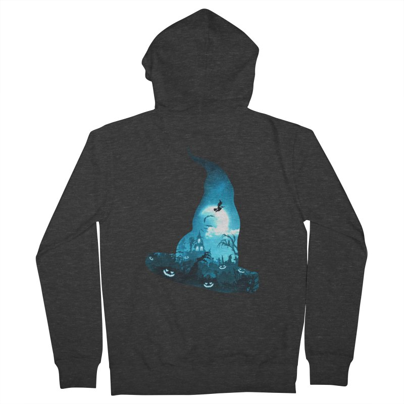 The Witches Hour Men's French Terry Zip-Up Hoody by DVerissimo's