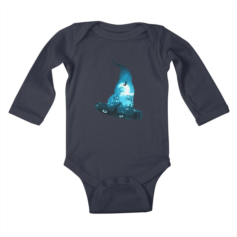 The Witches Hour Kids Baby Longsleeve Bodysuit by DVerissimo's