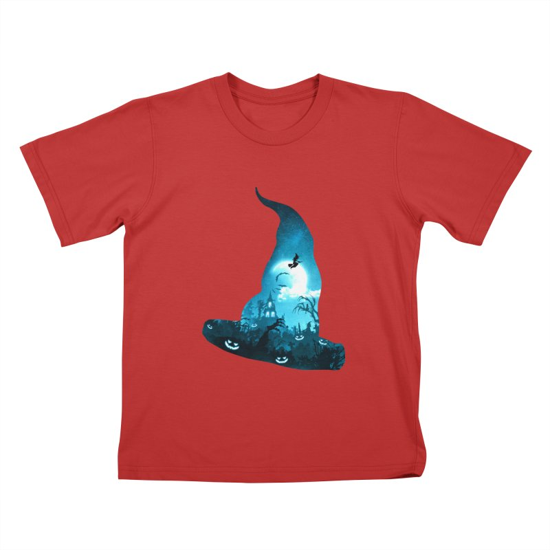 The Witches Hour Kids T-Shirt by DVerissimo's